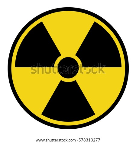 Radioactive danger sign