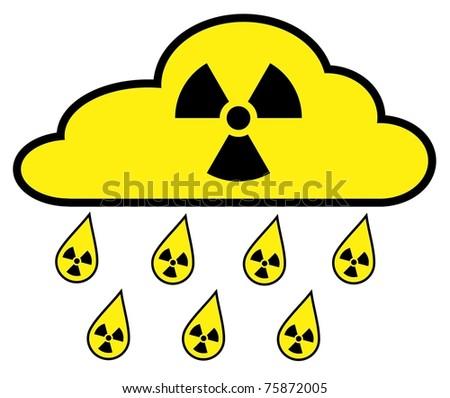 Radioactive Fallout - stock vector