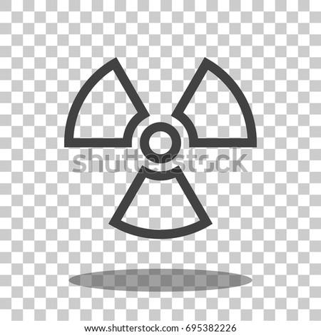 Radioactive Icon Vector Isolated Stock Vector Hd Royalty Free