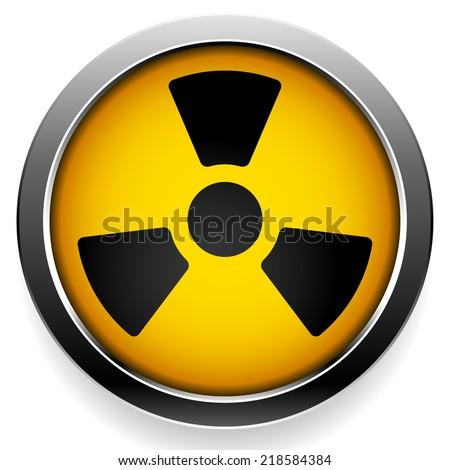 Radioactivity, radioactive sign - stock vector