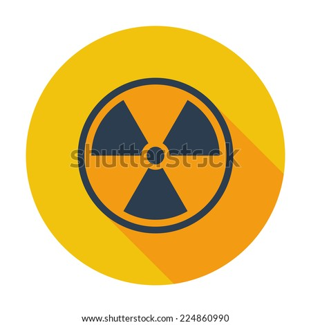Radioactivity. Single flat color icon. Vector illustration. - stock vector