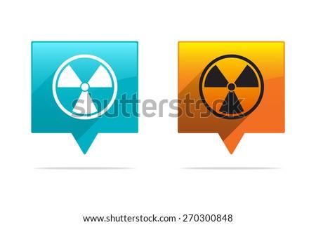 Radioactivity Tags - stock vector