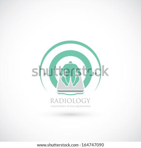 Radiology imaging - vector illustration - stock vector