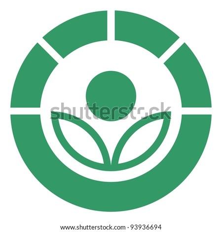Radura symbol standard - stock vector