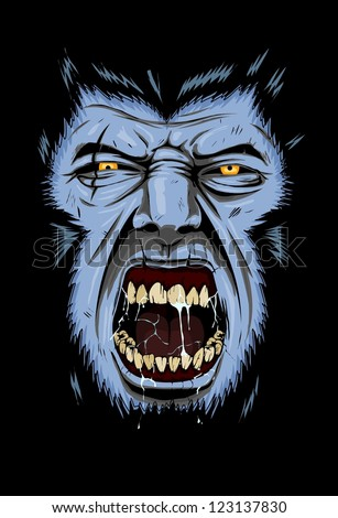 Rage of Wolf - stock vector