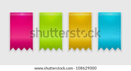 Ragged ribbons vector - stock vector