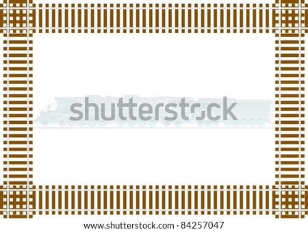 Rail transport and background of the tracks - stock vector