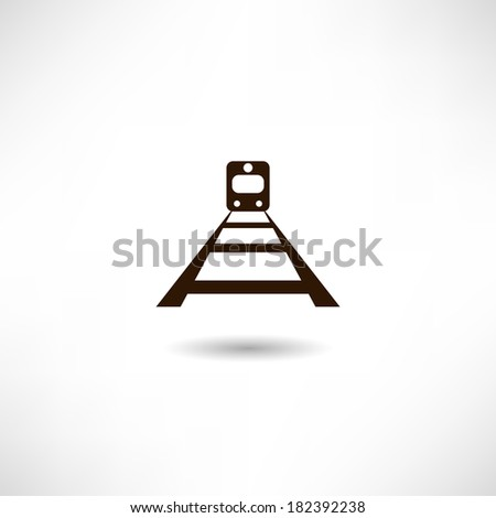 Railroad icon - stock vector