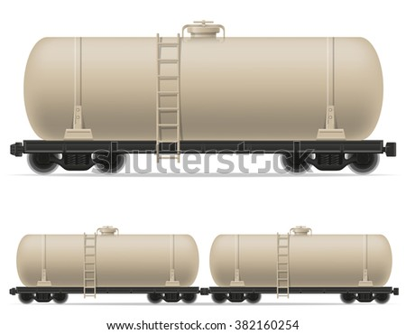 railway carriage tanker train car vector illustration isolated on white background