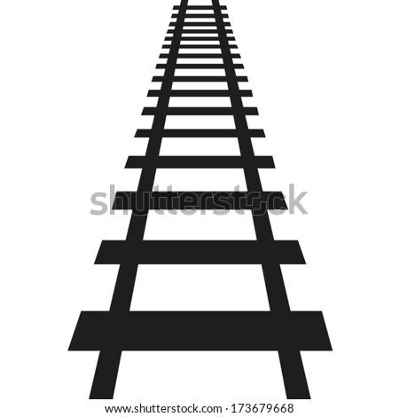 Railroad tracks vector
