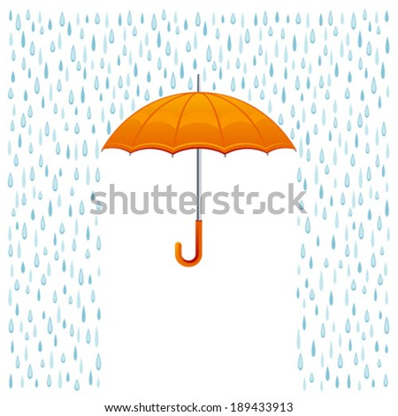 Rain and umbrella