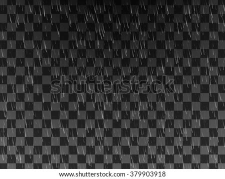 Rain. Background with rain. Rain drops on the transparent background. Rainy weather - stock vector