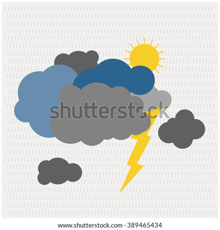Rain Clouds - stock vector
