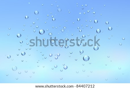 rain drops on the glass - stock vector