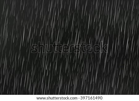 Rain on black. Vector rain texture. Abstract vector background - stock vector