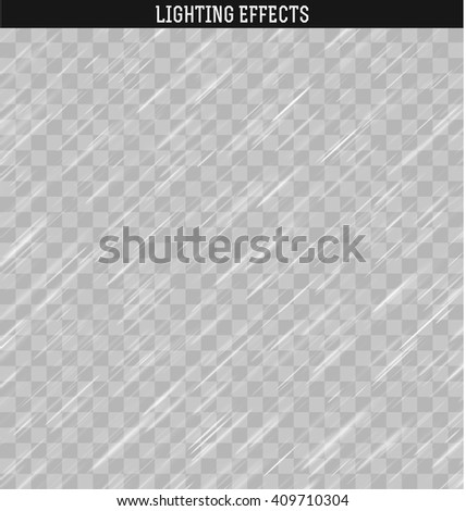Rain realistic effect . Rain and snow isolated realistic . Downpour, rain weather rainfall . Natural effect with rain. - stock vector