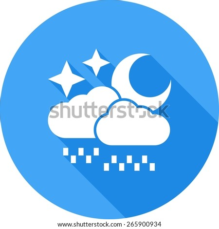 Rain, stars, moon, cloud icon vector image. Can also be used for weather, forecast, season, climate, meteorology. Suitable for web apps, mobile apps and print media. - stock vector