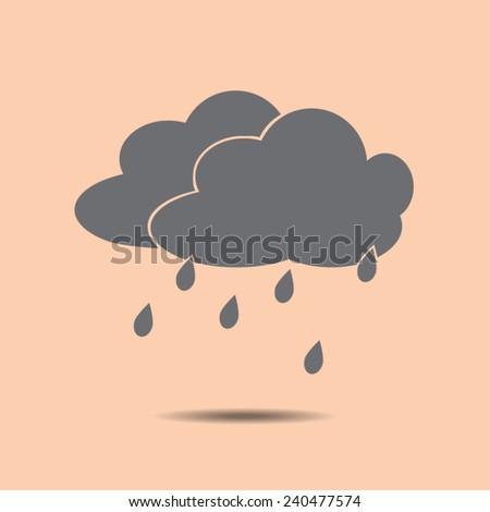 Rain vector icon - stock vector