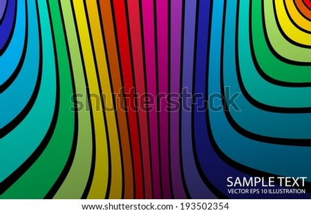 Rainbow abstract color vector background  illustration - Colorful vector background template - stock vector