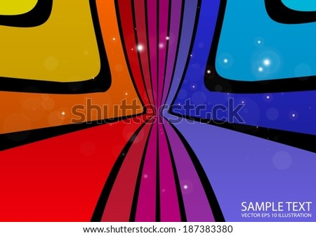 Rainbow abstract colorful vector background illustration  - Vector artistic background vector colorful template - stock vector