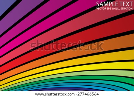 Rainbow abstract slide vector color background template - Vector colorful background striped illustration - stock vector
