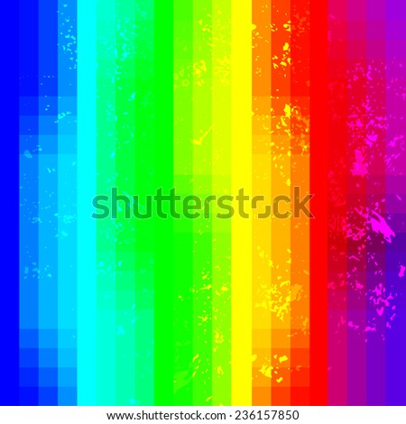 Rainbow abstract squared vector background with grunge noise
