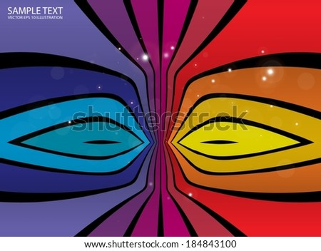Rainbow artistic vector background illustration  - Vector colorful shiny background template - stock vector