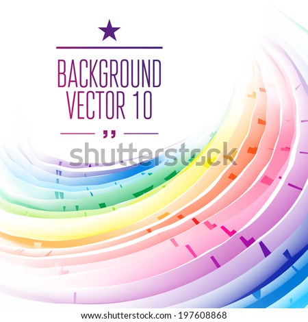 Rainbow background. Vector Illustration, Graphic Design Editable For Your Design.   - stock vector