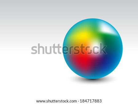 rainbow ball on a white background