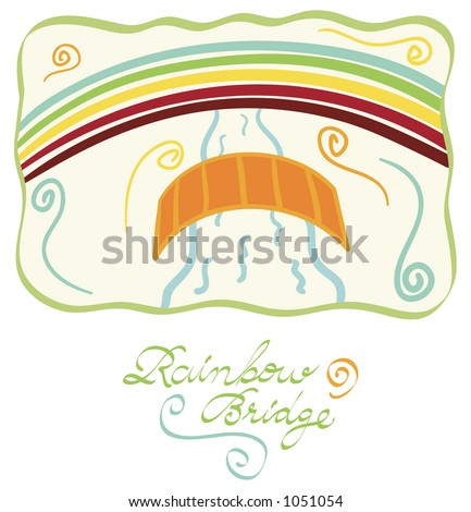 rainbow bridge - stock vector