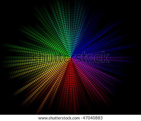 Rainbow Burst Background - stock vector