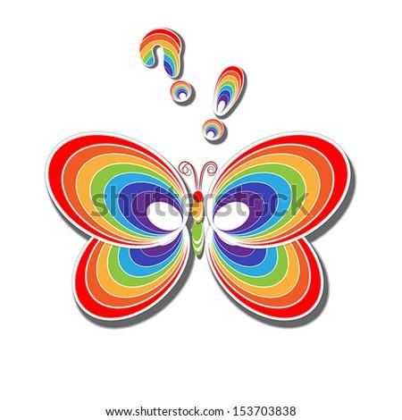Rainbow butterfly logo - photo#21