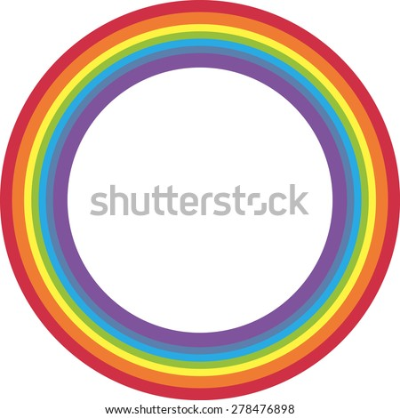 Rainbow circle on white background. - stock vector