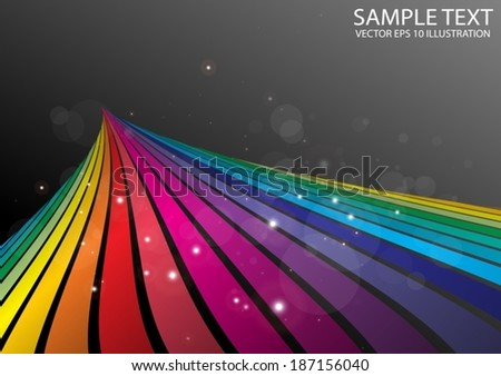 Rainbow color abstract background  illustration - Vector colorful striped background illustration template - stock vector