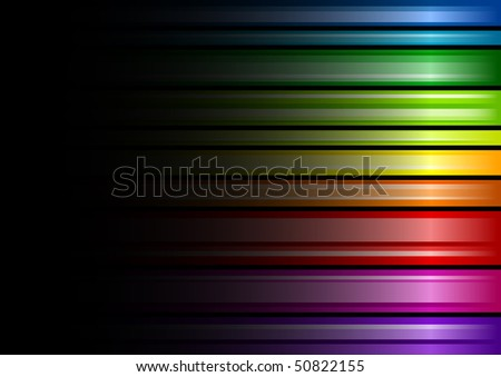 Rainbow color background with black