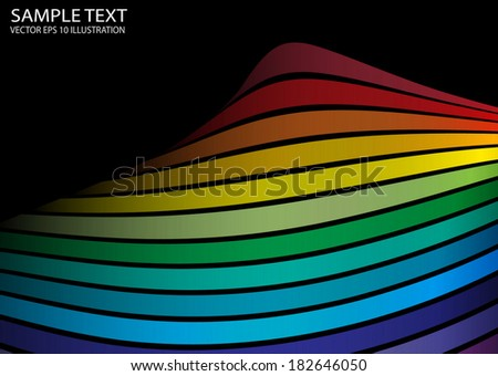 Rainbow color vector abstract background illustration - Abstract vector background web background - stock vector