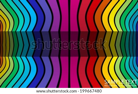 Rainbow colored background abstract illustration - Vector colored and striped background  template - stock vector