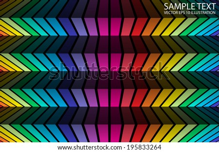 Rainbow colored vector background  illustration - Shiny vector lined and reflected rainbow template - stock vector