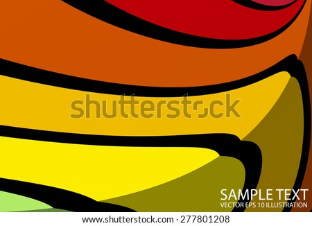 Rainbow colorful lighted vector background illustration - Vector abstract curved background template - stock vector
