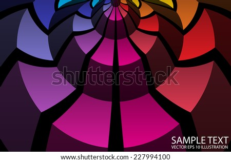 Rainbow colorful vector background  squared illustration - Abstract  vector circular rainbow template - stock vector
