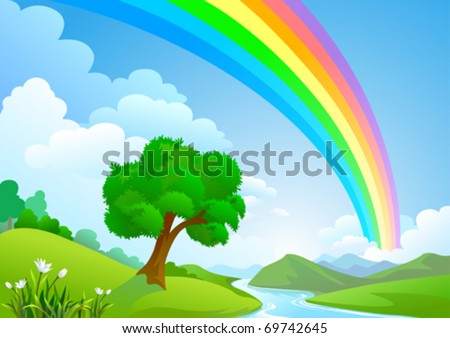 RAINBOW COUNTRY - stock vector