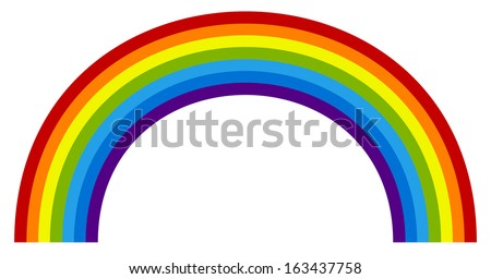 Rainbow element - stock vector
