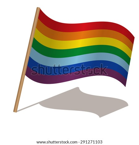 Rainbow flag. Vector illustration