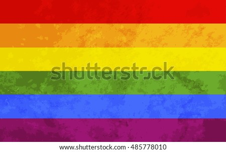 Rainbow flag with grunge texture, LGBT community sign