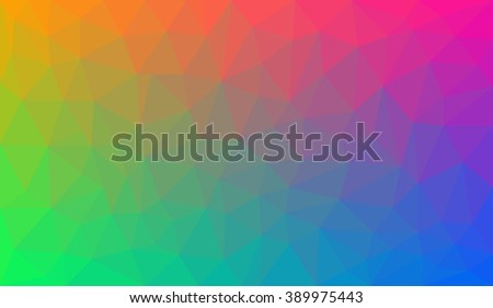 Rainbow Gradient abstract geometric triangular polygon style illustration graphic background