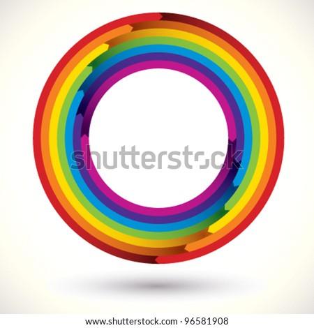 Rainbow icon. - stock vector