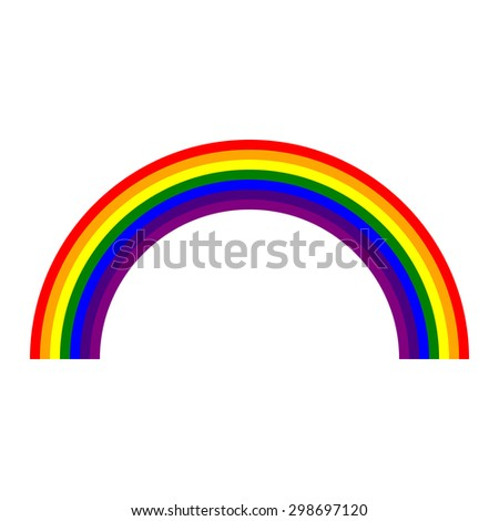 rainbow isolated on white background. contain seven main colors. vector illustration