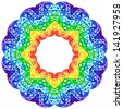 Rainbow kaleidoscope vector vibrant circle - stock photo
