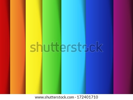 Rainbow lines - new banner template. Vector illustration - stock vector