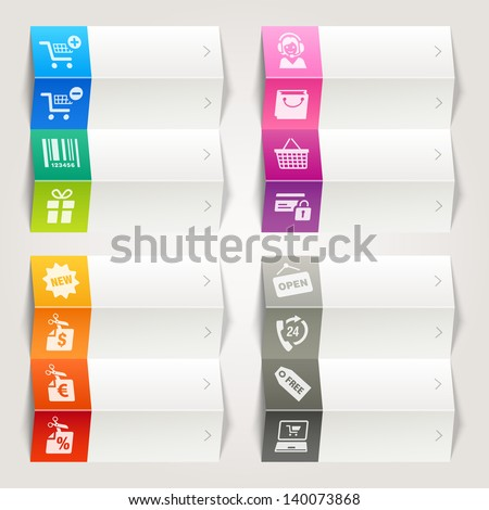 Rainbow - online shopping icons / Navigation template - stock vector